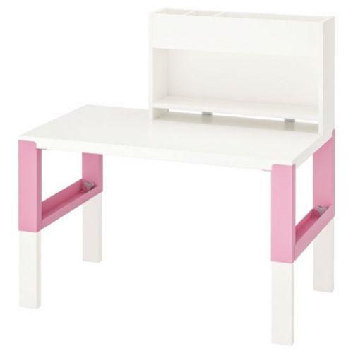 PAHL ПОЛЬ, Стол с дополнительным модулем , белый/розовый, 96x58 см - 492.512.71