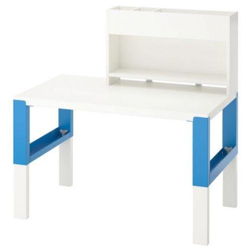 PAHL ПОЛЬ, Стол с дополнительным модулем , белый/синий, 96x58 см - 892.512.69