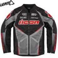 Куртка Icon Hooligan Ultrabolt, Черно-серо-красный