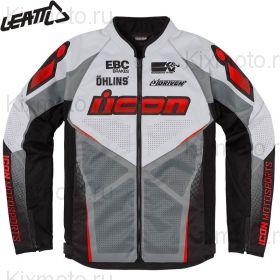 Куртка Icon Hooligan Ultrabolt, Серо-черно-красная