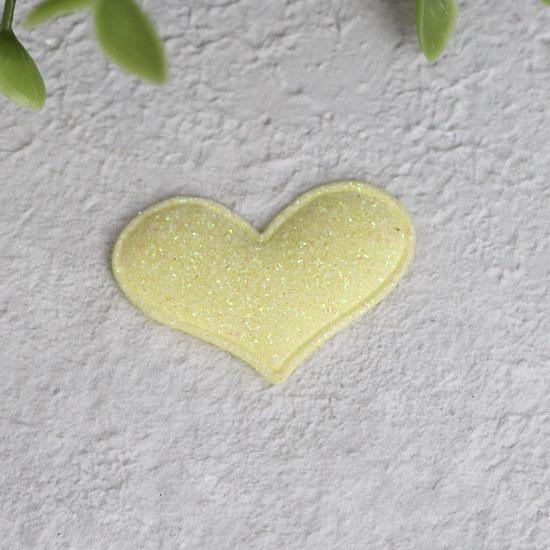 Кукольный аксессуар - Патч сердце лимонное 3,2*2,2 см