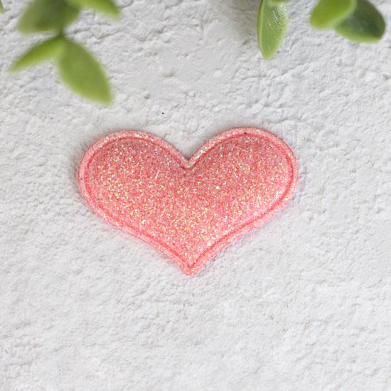 Кукольный аксессуар - Патч сердце розовое 3,2*2,2 см