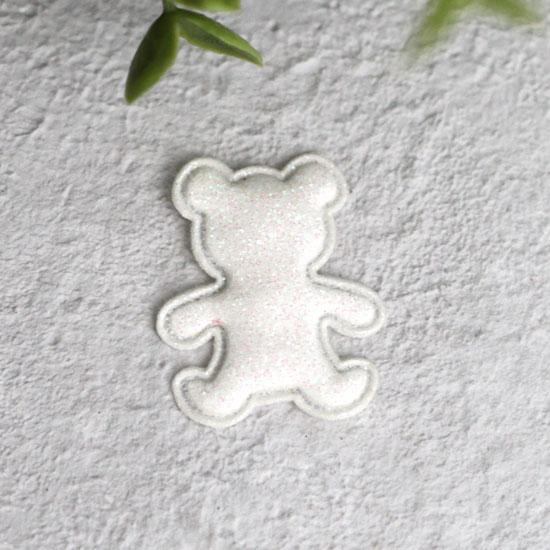 Кукольный аксессуар - Патч жемчужный мишка 2,6*3,3 см.