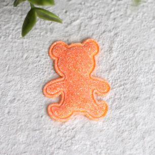 Кукольный аксессуар - Патч оранжевый мишка 2,6*3,3 см.