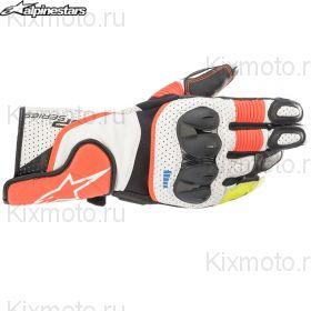 Перчатки Alpinestars SP-2 V3, Бело-красно-черные