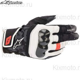 Перчатки Alpinestars SMX Z Drystar, Черно-бело-красные