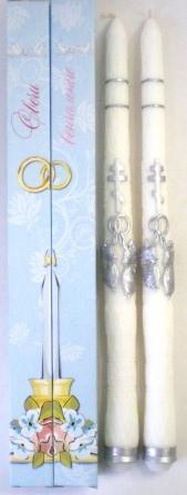 Свечи венчальные (пара). С Ангелами. Парафиновые