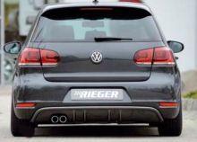 Диффузор заднего бампера VW Golf 6 GTD