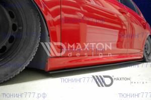 Накладки под пороги тонкие VW Golf 6 GTI 35TH R20