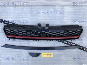 Решетка радиатора VW Golf 7 без эмблемы GTI-look