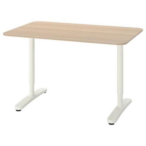 BEKANT БЕКАНТ, Письменный стол, дубовый шпон, беленый/белый, 120x80 см - 092.825.90