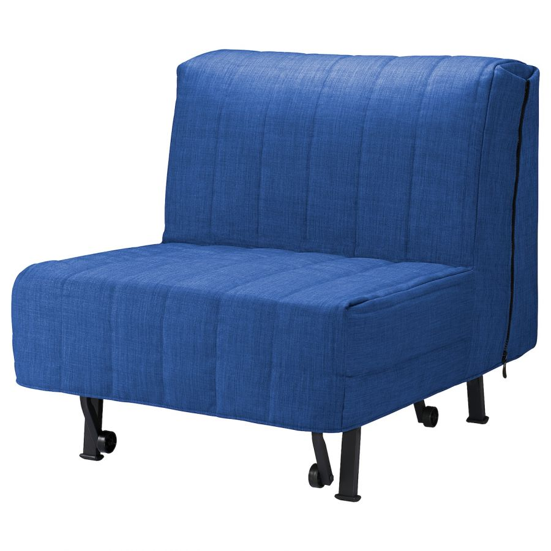 LYCKSELE ЛИКСЕЛЕ, Кресло-кровать, Шифтебу синий - 793.878.00