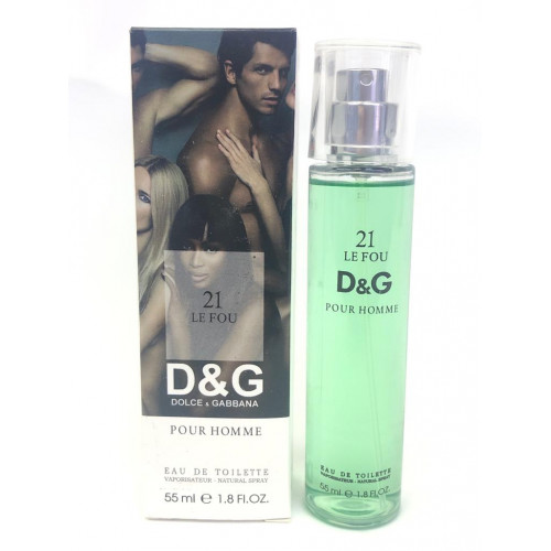 Мини-парфюм с феромонами Dolce & Gabbana 21 Le Fou Pour Homme 55 мл