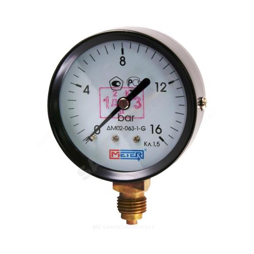 Манометр ДМ02-63-1 радиальный Дк63мм 0-16 кгс/см2 М12х1,5 Метер