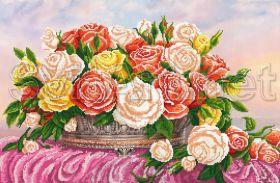 Svit Art SI-514 Розы Разных Цветов схема для вышивки бисером купить оптом в магазине Золотая Игла