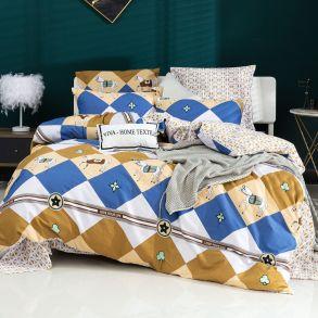 Комплект постельного белья Делюкс Сатин L408
