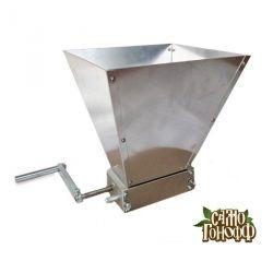 Дробилка для солода двухвальцовая с бункером