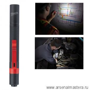 Компактный фонарь на батарейках MILWAUKEE IPL-LED 4933459440
