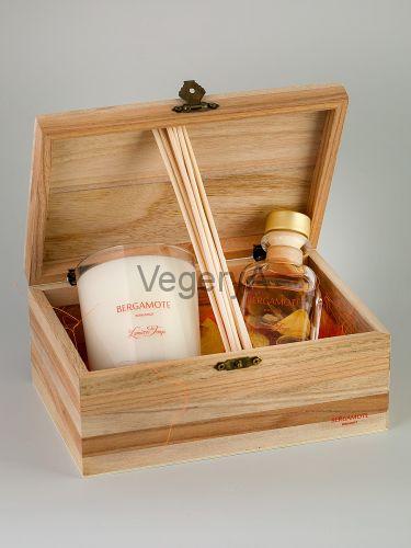 Подарочный набор деревянный сундучок (Бергамот) LUMIERES