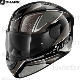 Шлем Shark D-Skwal 2 Daven, Серо-черный