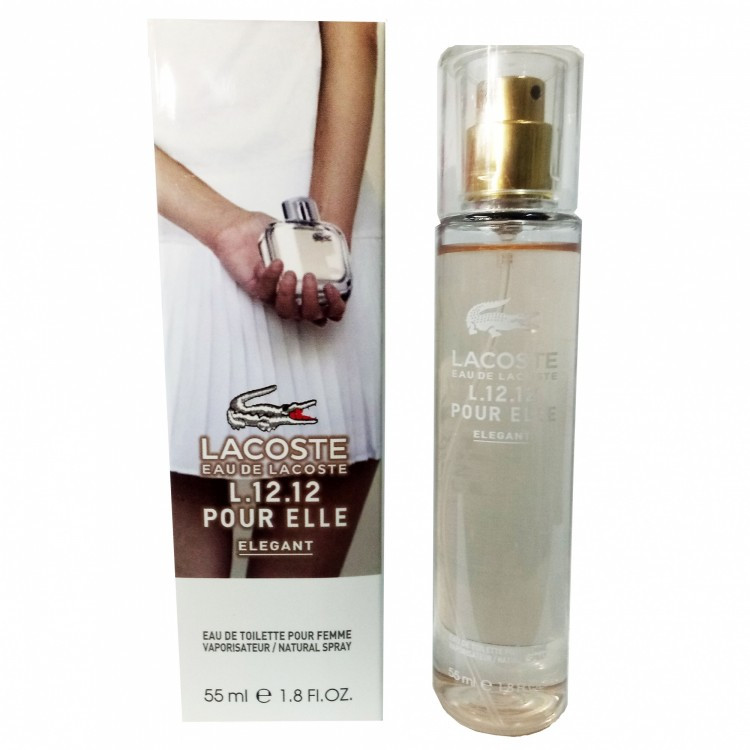 Мини-парфюм с феромонами Lacoste L.12.12 Pour Elle Elegant 55 мл
