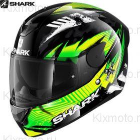 Шлем Shark D-Skwal 2 Penxa, Черно-желтый
