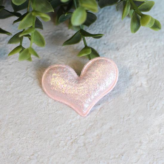 Кукольный аксессуар - Патч Розовое перламутровое сердце 5*4 см.