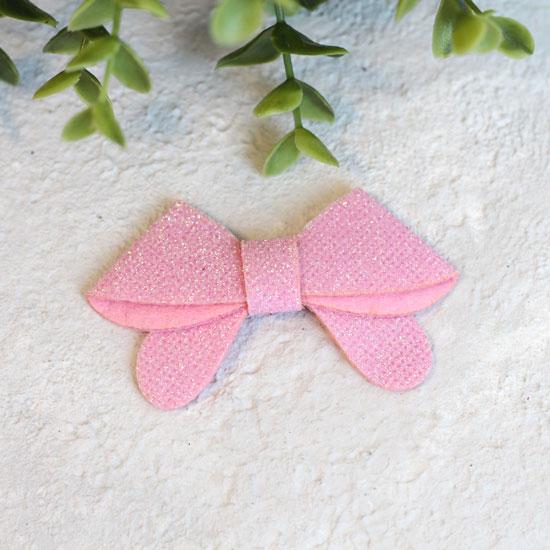 Кукольный аксессуар - Патч Светло-розовый бант 7*2,5 см.