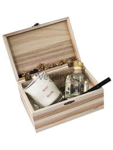 Подарочный набор деревянный сундучок (СЕКРЕТ) LUMIERES