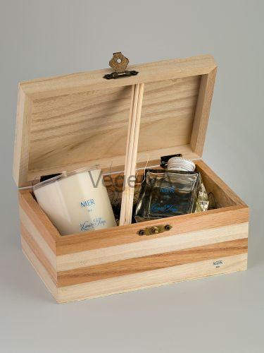 Подарочный набор деревянный сундучок (Море) LUMIERES