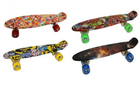 Скейтборд пластиковый SHINE принт