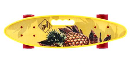 Скейтборд пласт Fishboard 23 print (mini) yello