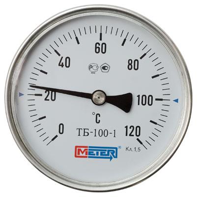 Термометр Метер ТБ-80-1 (с латунной гильзой G1/2) шток 40 мм