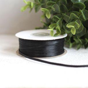 Лента атласная 3 мм, черная