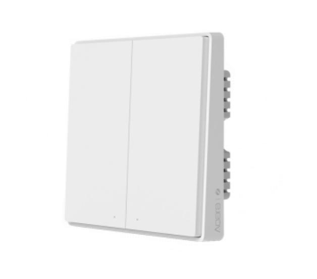 Умный выключатель Xiaomi Aqara Smart Light Switch ZigBee Version D1 (Двойной без нулевой линии) White (QBKG22LM)