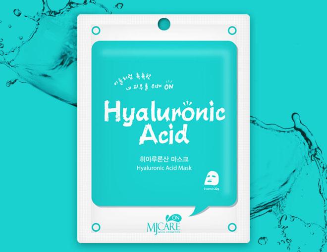 Маска тканевая для лица с гиалуроновой кислотой MJ on Hyaluronic Acid mask pack 22гр
