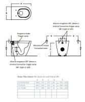 Приставной безободковый унитаз Hatria Fusion VBY1ZA01 с бидеткой 54,5х35,5 схема 1