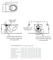 Подвесной унитаз с функцией биде Hatria Fusion VBY1CC01 54х35,5 схема 1