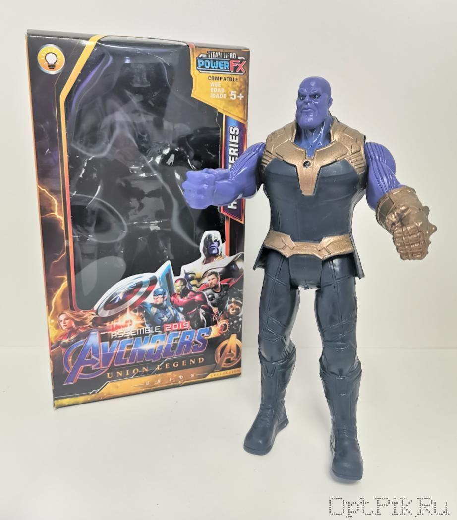 Фигурка Мстители 2019 Танос синий 15 см