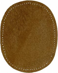 Заплатки пришивные овальные Под кожу с отверстиями для пришивания. Германия  (36/18)
