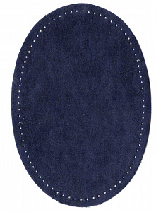 Заплатки термоклеевые овальные Под замшу с отверстиями для пришивания. Германия  (184)