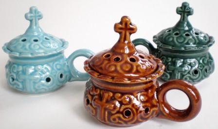 Кадильница малая (керамика). В ассортименте