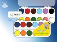 Краски акварельные 12 цв. пластм. упаковка (арт. Tz-8084)