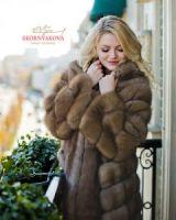 Манто пальто шуба из куницы в Москве фото