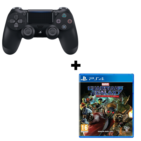 Геймпад Sony Dualshock 4 (ver.2) Black (PS4) + игра Стражи галактики