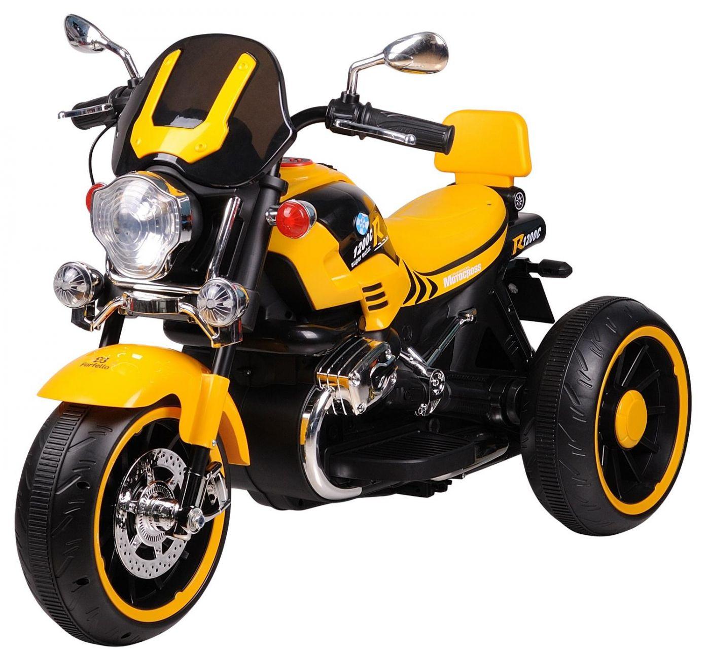 Детский электромобиль (2020) DLS01 (12V), желтый / yellow DLS01