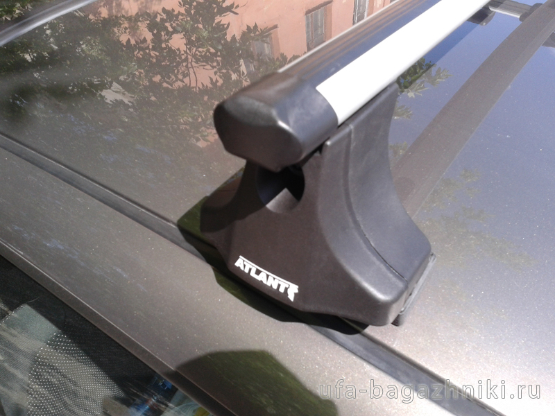 """Багажник на крышу Suzuki Swift, Атлант, аэродинамические дуги """"Эконом"""""""