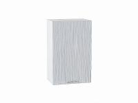 Шкаф верхний с 1-ой дверцей Валерия В450 в цвете серый металлик дождь