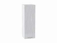 Шкаф верхний с 1-ой дверцей Валерия В309 в цвете серый металлик дождь