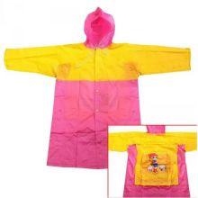Виниловый плащ-дождевик для детей, Желто-Розовый